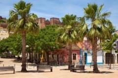 Silves, de oude stad in de Algarve met zijn middeleeuwse kasteel.